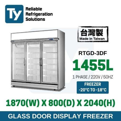 3 Glass Door Freezer